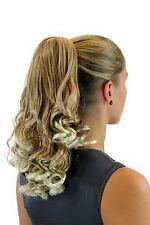 Postiche Queue de Cheval Tresse Bouclée 40 Cm Épingle à Cheveux-Papillon