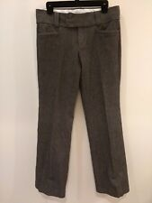 Banana Republic size 8L (long) gray textured dress pants The Sloan Fit stretch