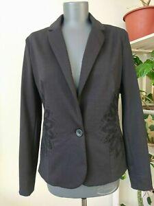 DESIGUAL Jacket Blazer Black Size 44 2XL