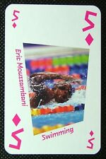 1 x playing card London 2012 Olympic Legends Eric Moussambani Swimming 5D