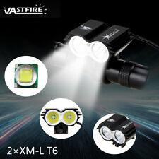 8000LM 2x XM-L LED Linterna Frontal Luz Cabeza Bicicleta Headlight Cicling