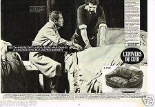 Publicité advertising 1985 (2 pages) Les Meubles Canapé L'Univers du Cuir