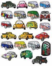 Lot 100 Pcs. VW Minibus Iron Sew On PATCH VOLKSWAGEN Applique Car Auto Aufbügler