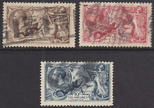 1918 KGV SEAHORSES HIGH VALUES SET OF 3 SG413a/417 USED