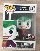 8 Bit The Joker Funko POP! DC Super Heroes GameStop Exclusive #11 K05