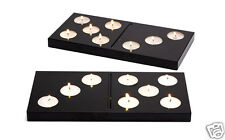 DOMINO Tea Light Holder Home Decore Black Candle Tray Gift By Peleg Design