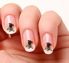 20 Adesivi Unghie Nail Art Decalcomanie #149 - Pug - cane Just peeling & stick