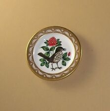 State Birds and Flowers Miniature Plate Vermont Hermit Thrush Red Clover