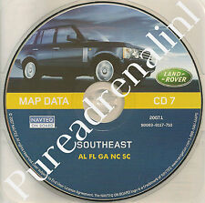 01 02 03 2004 RANGE LAND ROVER NAVIGATION MAP DATA CD 7 SOUTHEAST AL FL GA NC SC