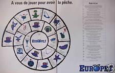 PUBLICITÉ 1992 EUROPE 1 A VOUS DE JOUER POUR AVOIR LA PÊCHE - ADVERTISING