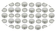 50 Buttons 15mm Self Cover Flat Back Old Concave Back Style 1 free tool Glueing