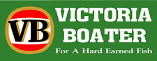 Victoria Boater Vic Fishing Boat Decal Sticker 290 x 115mm