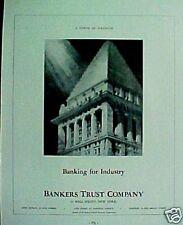 1937 Bankers Trust Co.~Wall Street, N.Y. Art Print AD