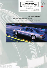 1999 AUDI A8 Factory Brochure / Catalog with Color Chart: A-8, 3.7, 4.2