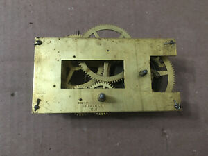 Antique Brewster & Ingraham East West Gallery Clock Movement Parts