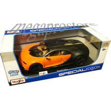 Maisto Bugatti Chiron 1:18 Diecast Model Car Black / Orange