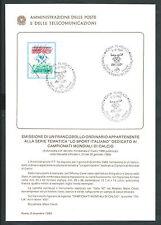1989 ITALIA BOLLETTINO ILLUSTRATIVO N. 24 MONDIALI DI CALCIO ITALIA 90