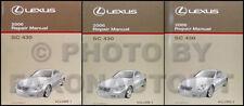 2006 Lexus SC 430 Repair Manual Original 3 Volume Set SC430 Shop Service OEM