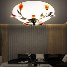 Maison de campagne style Plafonniers FLEURS LAMPE VERRE FLEURS BRANCHES Métal