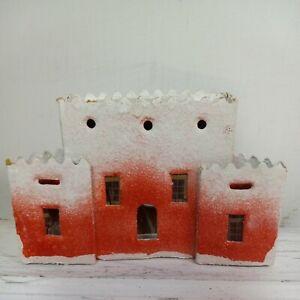 Cardboard Vintage Christmas House burnt red