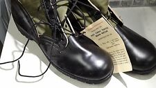 US Military Vietnam  Canvas Leather Jungle Boots Old Stock 11 N 1965-66-67-68-69