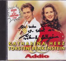 Katharina Herz&Torsten Benkenstein-Addio cd album gesigneerd
