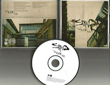 Aaron Lewis STAIND Believe USA PROMO Radio DJ CD Single 2008 w/ PRINTED LYRICS