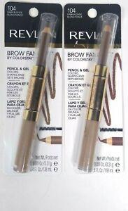 2 Pack Revlon Brow Fantasy By Colorstay. Pencil and Gel, Dark Blonde 104