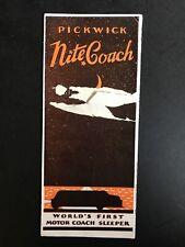 "Vintage Pickwick Stages ""Nite Coach� Travel Brochure"