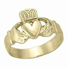 10k Yellow Gold Claddagh Ring, sz: 9.5 (NEW band, 4.6g) #1994