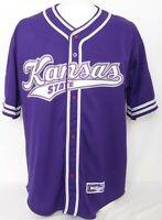 NEW Kansas State Wildcats Colosseum Sports Purple KSU Baseball Jersey Men's XL