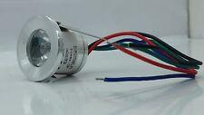 FARETTI LED 3W PUNTO LUCE RGB IP55 AD INCASSO  5v