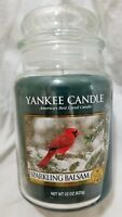Yankee Candle SPARKLING BALSAM Large Jar 22 Oz New Housewarmer Green Christmas