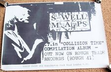 "SWELL MAPS U.K. REC COM PROMO POSTER ""IN COLLISION TIME"" COMPILATION ALBUM 1981"