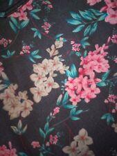 Papaya grey floral jeans UK 10 slim straight leg summer Spring blogger retro