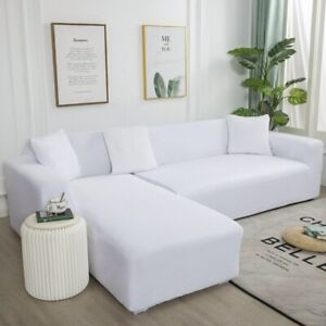 Sofa Cover Solid Color Corner Sofa Covers Elastic Spandex Couch Cover Slipcovers