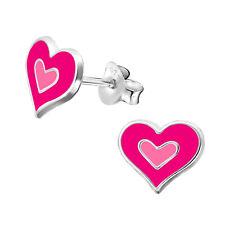 Children's Silver Heart Ripples Ear Studs — AUS Postage — Sterling 925 Earrings