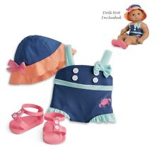 """American Girl BITTY BABY  SEASIDE FUN SWIMSUIT for 15"""" Dolls Clothes Outfit NEW"""