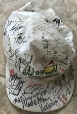 1999 Masters Golf Cap Signed By 39 Golfers Tiger Woods Arnold Palmer Etc.