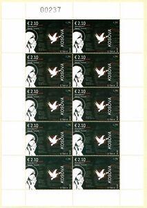 Kosovo Stamp 2016. Sanctification of Mother Teresa. Sheet MNH.