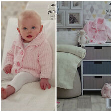 KNITTING PATTERN Baby Collared Jacket & Blanket Chunky King Cole 4820
