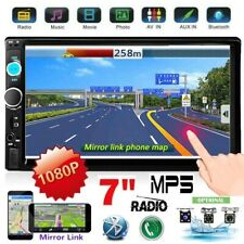 Double Din 7'' Touch Screen Car Stereo Bluetooth FM AUX USB SD Mirror Link