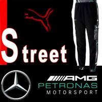 "MEN'S MERCEDES - AMG PETRONAS STREET ""SILVER ARROWS"" PANTS MOTORSPORT FLEECE S"
