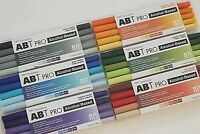 LOT of 30 TOMBOW Dual Tip ABT PRO Art Drawing Permanent Markers 6 Tones Sets NEW