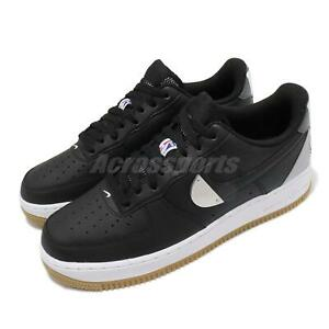 Nike Air Force 1 07 LV8 NBA AF1 Black White Rubber Men Casual Shoes CT2298-001
