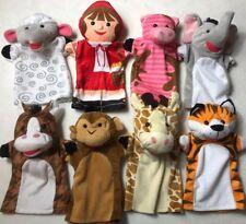 Melissa and Doug Farm Zoo Friends Hand Puppets set of 8