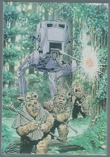 Star Wars Return Of The Jedi Ewok Concept Art Postcard Wholesale Pack One New