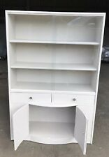 Sleek 1930s Deco Glass Fronted Shelving Cabinet + Lower Storage Unit