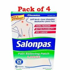 Salonpas Pain Relief Patch, Large, 6 ct (4 Pack)