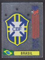 Panini - USA 94 World Cup - # 94 Brasil Foil Badge (Green Back)